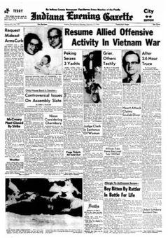 Indiana Evening Gazette, vol. 69, nº 157, 17 février 1969, p. 1
