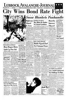 Lubbock Avalanche-Journal, vol. 45, nº 115, 17 février 1969, p. 1