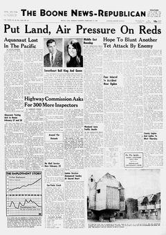 The Boone News-Republican, vol. LXXXI, nº 40, 17 février 1969, p. 1