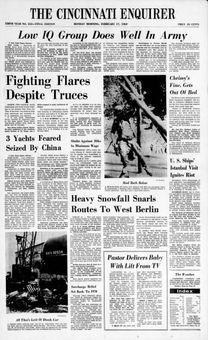 The Cincinnati Enquirer, nº 313, 17 février 1969, p. 1
