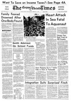 The Corpus Christi Times, nº 191, 17 février 1969, p. 1
