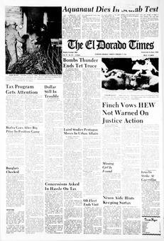 The El Dorado Times, vol. 79, nº 181, 17 février 1969, p. 1