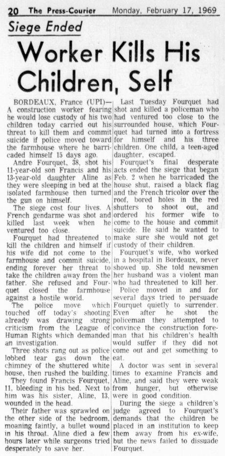 The Press-Courier, vol. 32, nº 232, 17 février 1969, p. 20