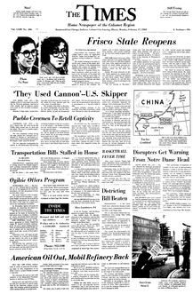 The Times, vol. LXIII, nº 206, 17 février 1969, p. 1