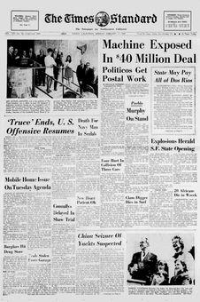 The Times Standard, vol. CXV, nº 48, 17 février 1969, p. 1
