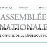 Journal officiel de la République française, édition « Débats parlementaires – Assemblée nationale », nº 39 AN (Q), 27 septembre 2016