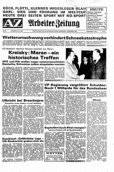 Arbeiter Zeitung, nº 40, 18/02/1969, p. 1