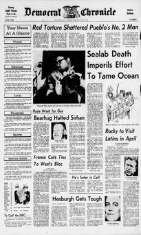 Democrat and Chronicle, 18/02/1969, p. 1