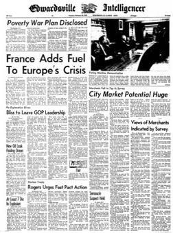 Edwardsville Intelligencer, 18/02/1969, p. 1