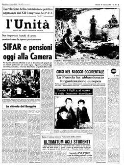 L'Unità, nº 47, 18/02/1969, p. 1