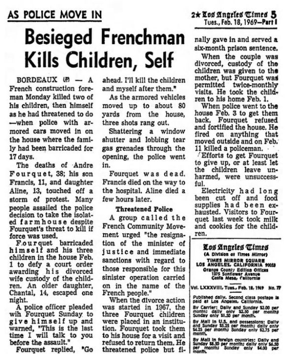 Los Angeles Times, vol. LXXXVIII, 18/02/1969, p. 5