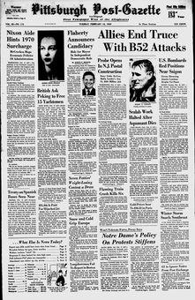 Pittsburgh Post-Gazette, vol. 42, nº 173, 18/02/1969, p. 1