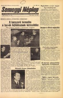 Somogyi Néplap, vol. XXV, nº 40, 18/02/1969, p. 1