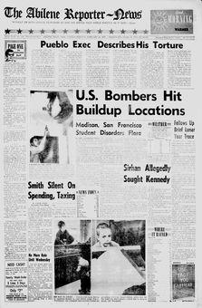 The Abilene Reporter-News, nº 239, 18/02/1969, p. 1