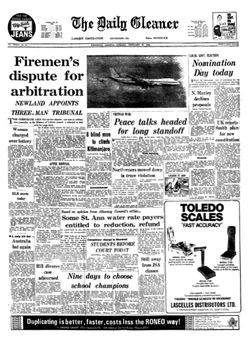 The Daily Gleaner, vol. CXXXV, nº 41, 18/02/1969, p. 1