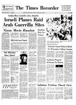 The Times Recorder, nº 9, 18/02/1969, p. 1