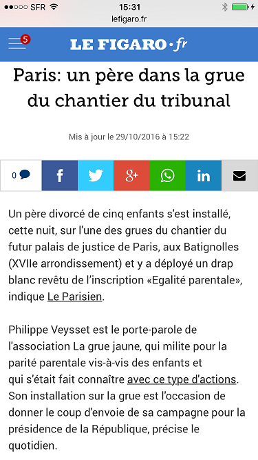 Le Figaro, 29 octobre 2016