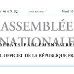 Journal officiel de la République française, édition « Débats parlementaires – Assemblée nationale », nº 46 AN (Q), 15 novembre 2016