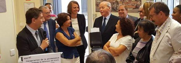 Inauguration d'un nouveau point d'accueil du Défenseur des droits à Bondy