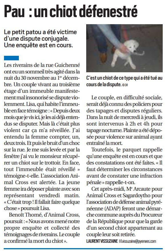La République des Pyrénées, nº 21906, 5 décembre 2016, p. 5