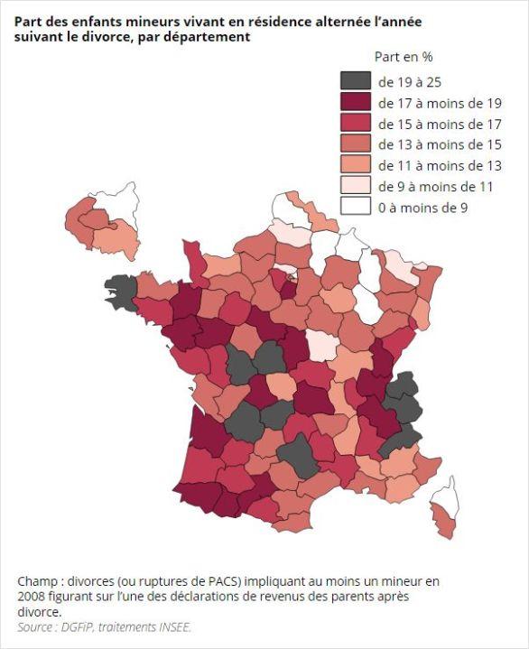 Source: Bonnet (Carole), Garbinti (Bertrand), Solaz (Anne), «Les conditions de vie des enfants après le divorce», Insee Première, nº1536, 4février 2015, p.2.