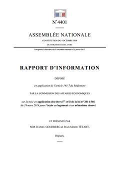 Rapport d'information nº 4401