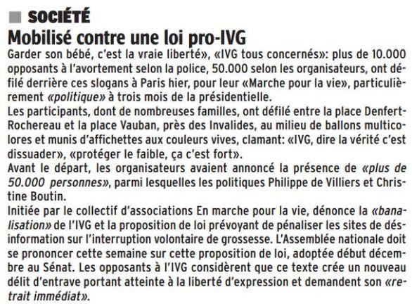La République des Pyrénées, nº 21948, 23 janvier 2017, p. 30