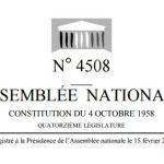 Proposition de loi nº 4508