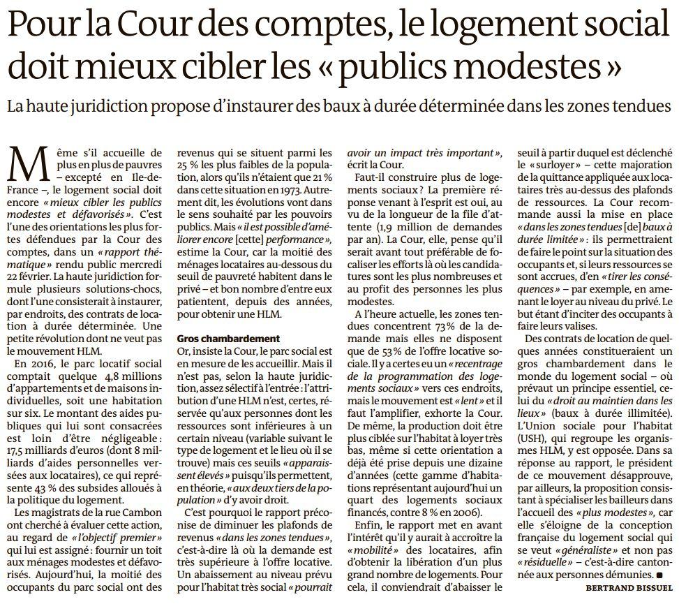 Le Monde, nº 22430, 23 février 2017, p. 10