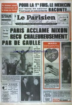 Le Parisien libéré, nº 7621, 1er mars 1969, p. 1