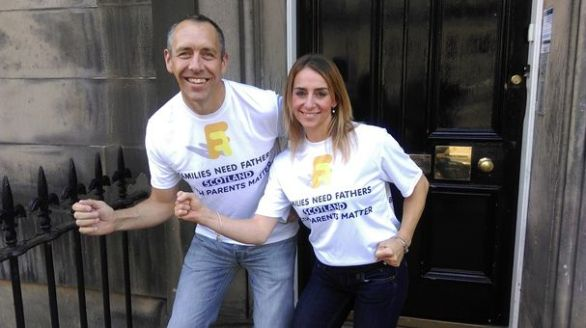 Mark Downie and Lisa (© Families Need Fathers Scotland)