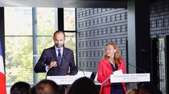 Édouard Philippe et Nicole Belloubet présentent les chantiers de la justice à Nantes (© Yves Malenfer)