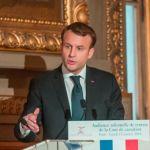 Emmanuel Macron à l'audience de rentrée solennelle de la Cour de cassation (© Cour de cassation)