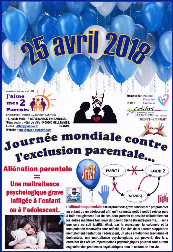 Manifestation J'aime mes 2 parents 25/04/2018
