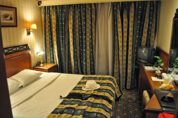 Нашата сладка каюта.Имаше си всички удобства, като на 4-звезден хотел.