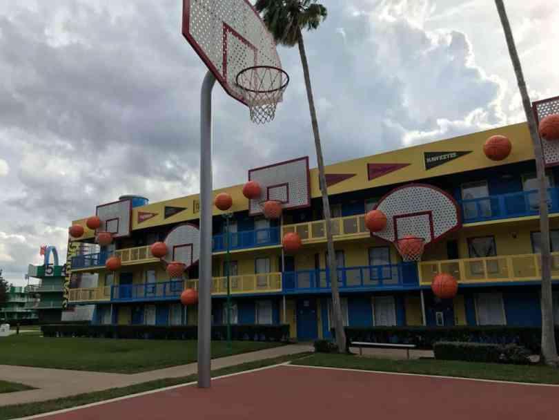 Foto do All-Star Sports Resort, que permite também aproveitar ao máximo o sistema de transporte gratuito da Disney.