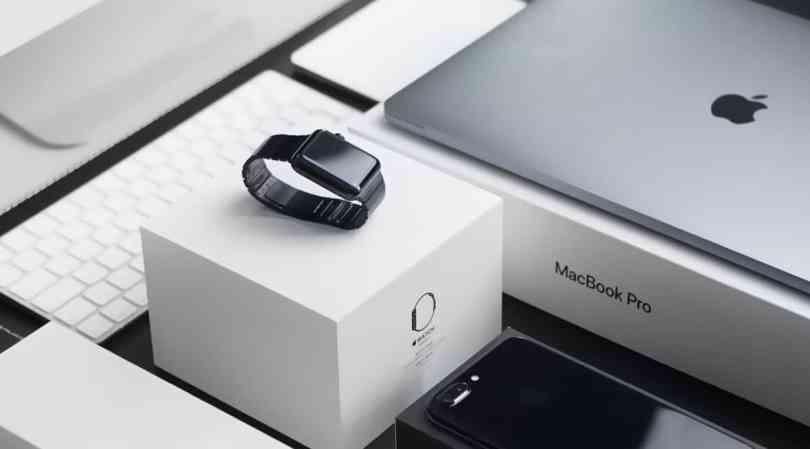 Imagem ilustrando produtos Apple, um dos mais comprados pelos brasileiros em suas viagens para Orlando.
