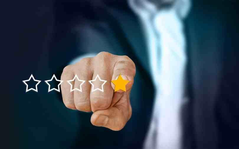 Foto mostrando avaliação de 5 estrelas.