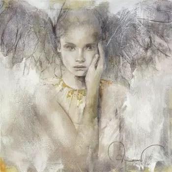 ange en noir et blanc
