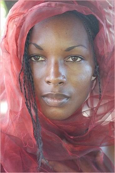 belle femme foulard