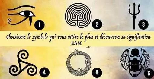 Choisissez le symbole qui vous attire le plus et découvrez sa signification
