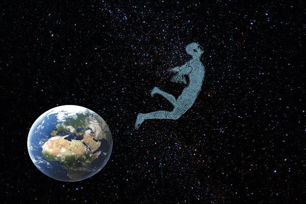 homme dans espace