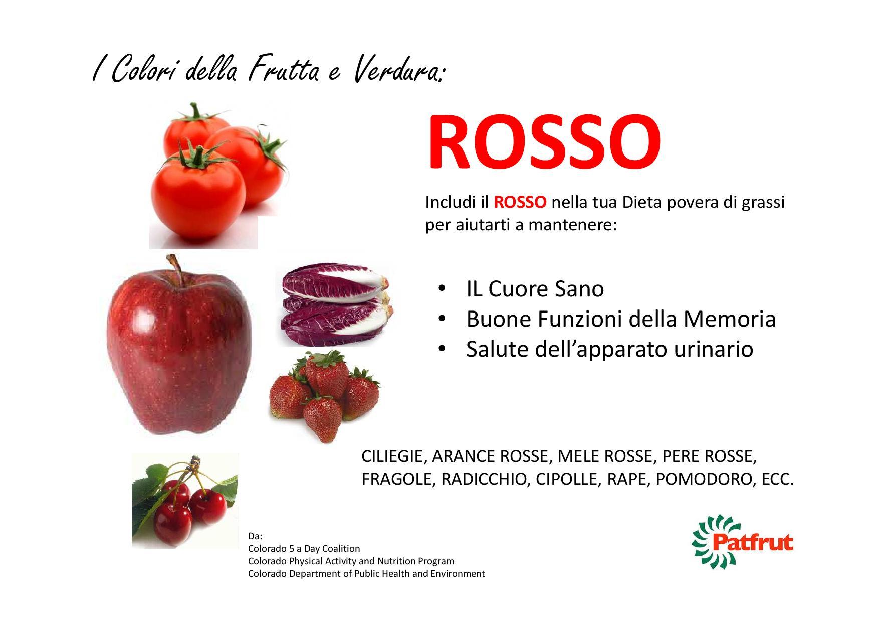 I Colori della Frutta e della Verdura promuoviamo il Consumo della nostra Frutta e Verdura per