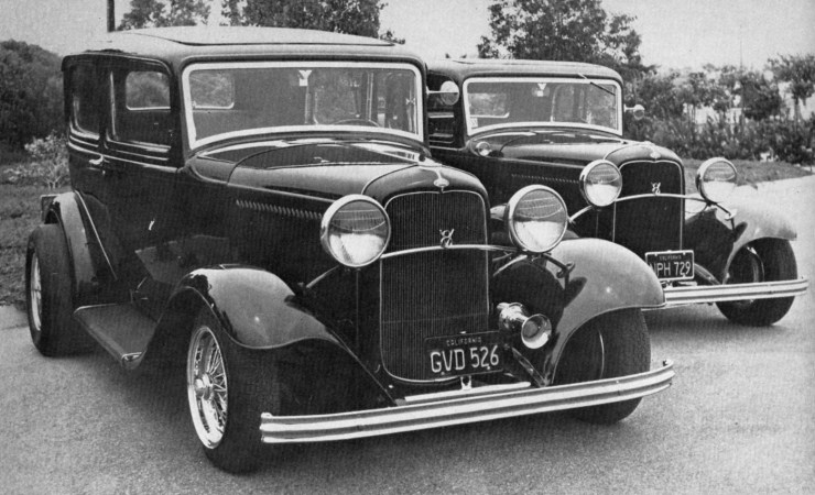 Ron Hauk's and Bob Trawick's '32 Fords