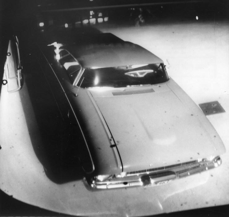 Augie Pabst Hertz rental Falcon in the Mark Thomas Inn pool