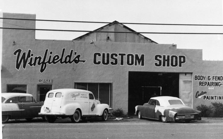 Gene Winfield's shop