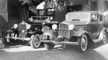 Bill Burke's '32 Ford Victoria with '31 Model A