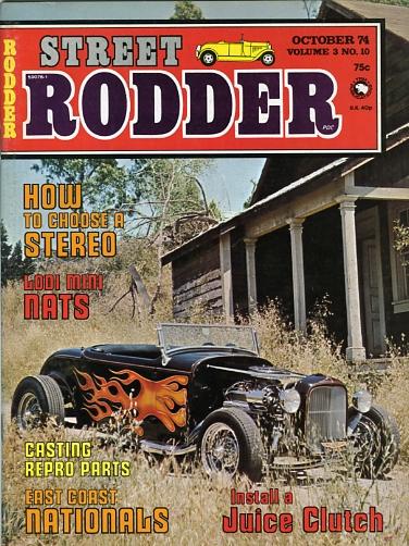 Les Jarvis 1932 roadster on Street Rodder magazine cover