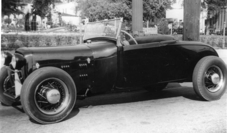 Model A roadster in 1945