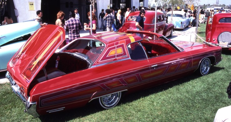 Lowrider with reverse opening trunk